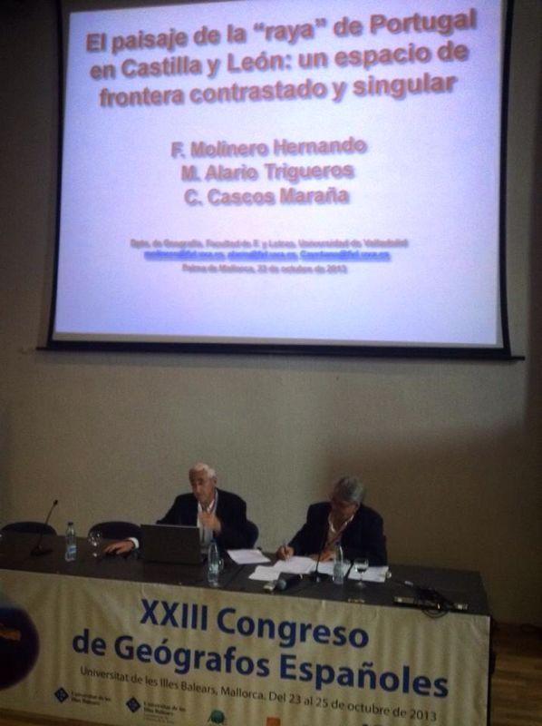 El Departamento de Geografía participa en el XXIII Congreso de Geógrafos Españoles