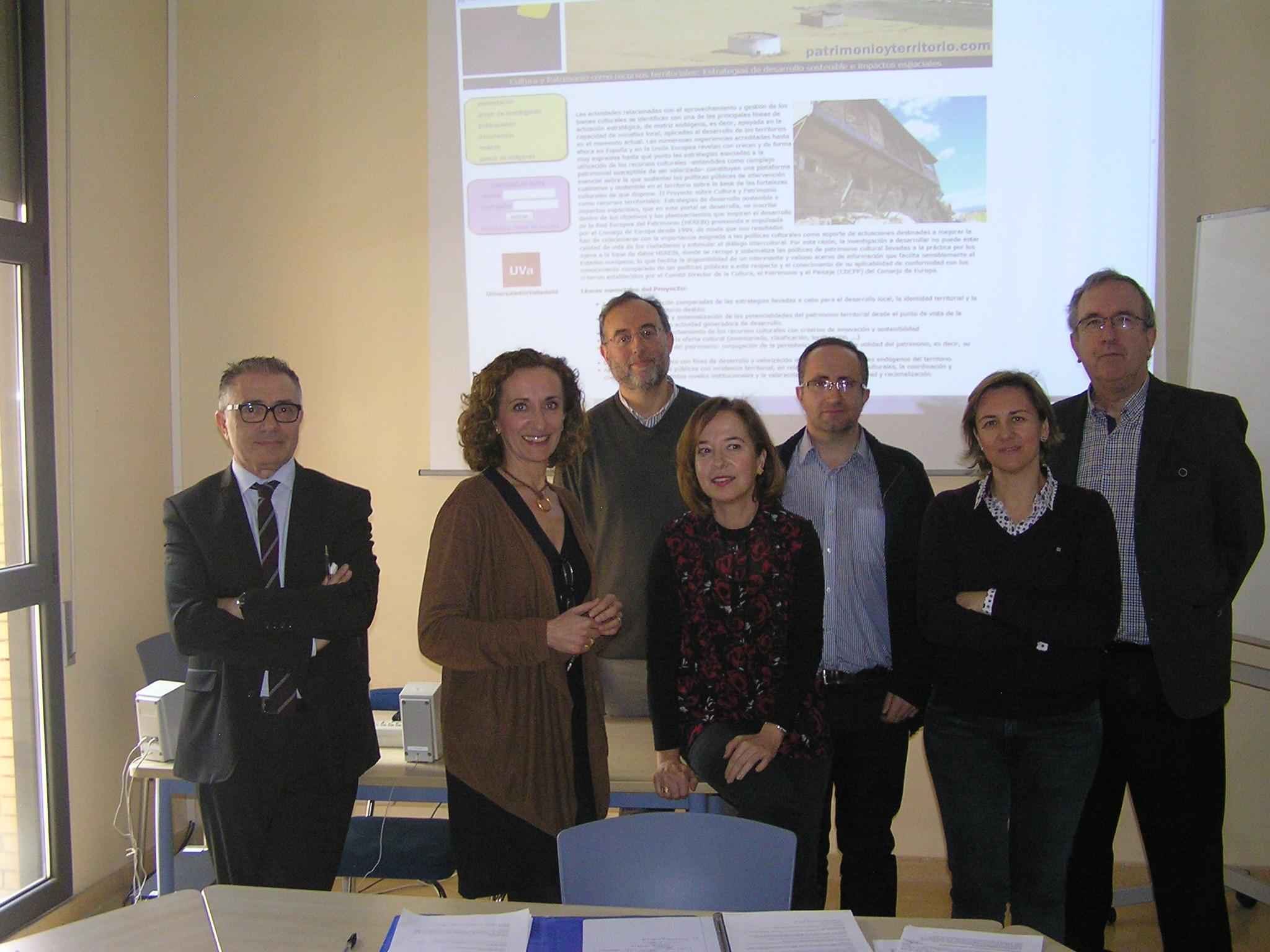 """Reunión científica del proyecto sobre """"Cultura y patrimonio como recursos territoriales: estrategias de desarrollo sostenible e impactos espaciales"""""""