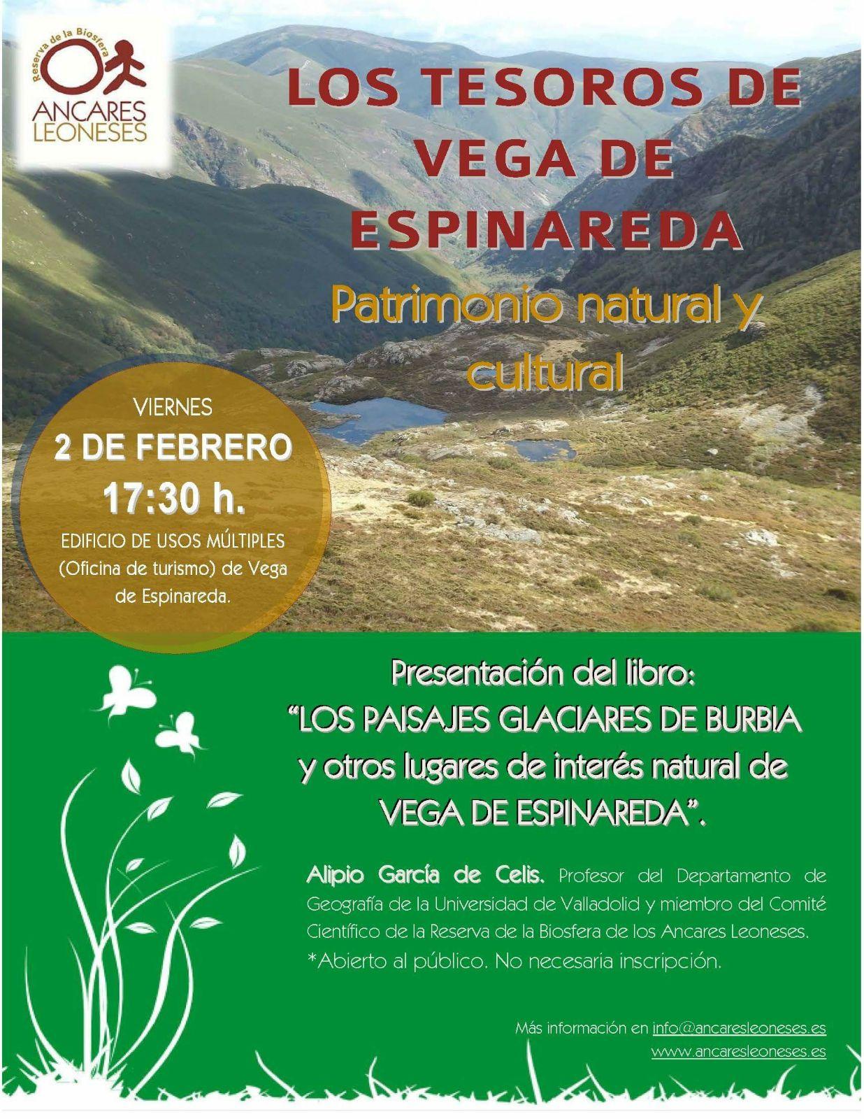 """Presentación del libro """"Los paisajes glaciares de Burbia y otros lugares de interés natural de Vega de Espinareda"""""""